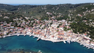 Paxos Island - Gaios Center from above